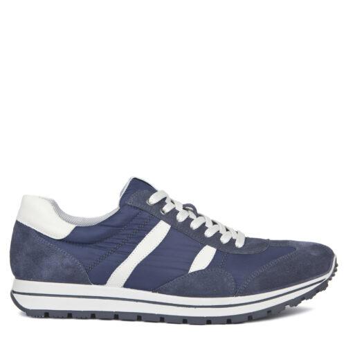 Синие кроссовки из замши и текстиля. 5 990₽